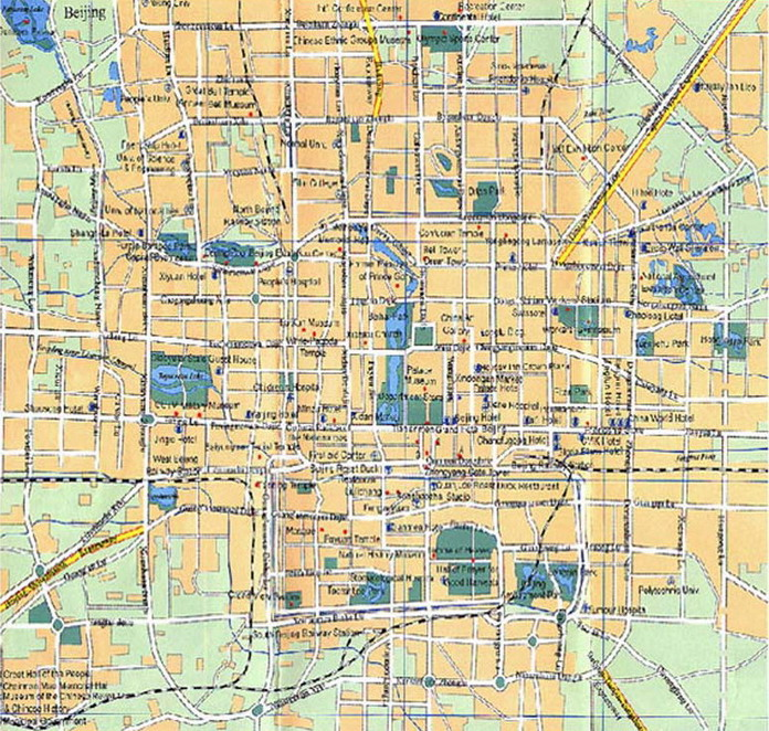 photo of the Map of Beijing City