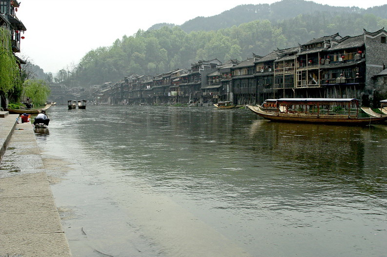photo of Traditional Miao Building above Tuo River